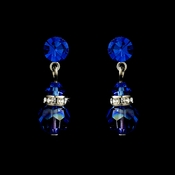 Blue Swarovski Crystal Bridal Earrings E 200