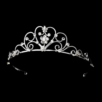 Silver Clear Children's Tiara HP C 600