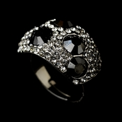 Glamorous Crystal Black Ring 166  ** Discontinued **