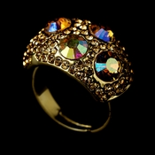 Glamourous Crystal Ring 166 Gold AB