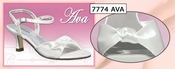 Ava Dyeable Satin Love Knot Bridal Shoe