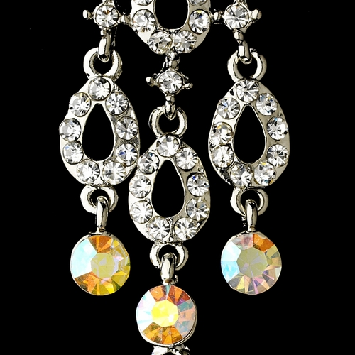 Silver Clear AB Earring Set 8488 * Discontinued * 1 Left