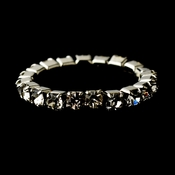 Silver-Clear Rhinestone Toe Ring Stretchy 1