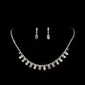 * AB Accented Necklace & Earring Jewelry Set NE 358