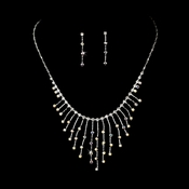 Necklace Earring Set 3126 Silver AB