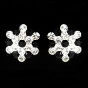 Black Crystal Cluster Clip On Bridal Earrings E 500