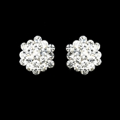Clear Crystal Cluster Clip On Earring E 500