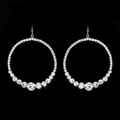 Clear Rhinestone Hoop Earrings E 951