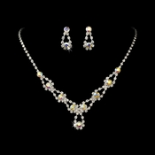 Sparkling AB Crystal Bridal Jewelry Set NE 360