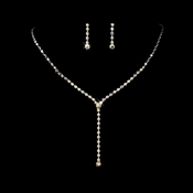 * Necklace Earring Set 313 Silver AB