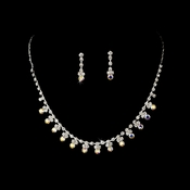 Necklace Earring Set NE 3108 Silver AB