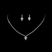 Beautiful AB Crystal Jewelry Set NE 342