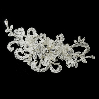 Rhinestone, Crystal & Lace Accent Clip 2718