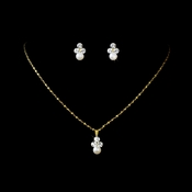 Necklace Earring Set NE 112 Gold Ivory