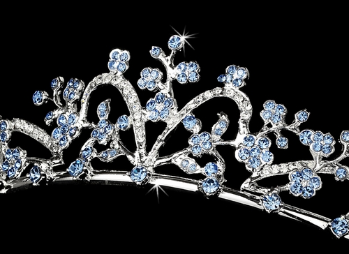 * Blue Stone Bridal Tiara HP 6101