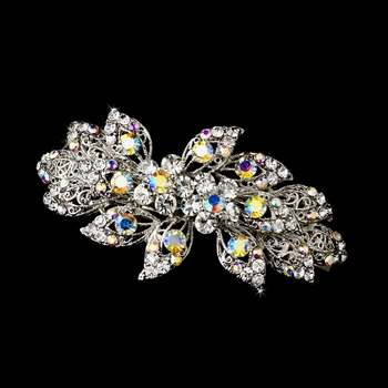 Stunning Antique Silver AB Barrette 8334
