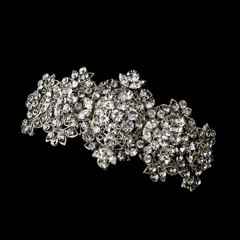Silver Clear Barrette 8337