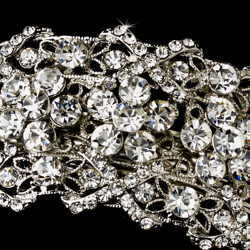Silver Clear Barrette 8336