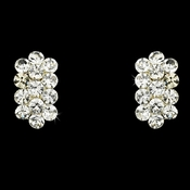 * Clear Rhinestone Clip On Earrings E 24678