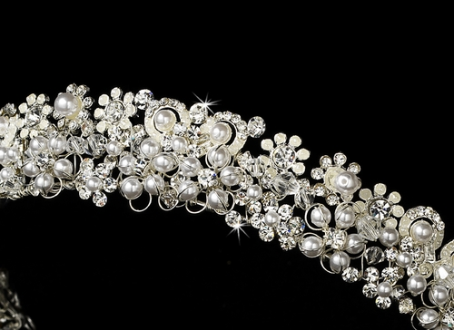 Headpiece 6444 Silver White