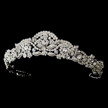* Antique Silver Clear Headpiece 701***Discontinued***