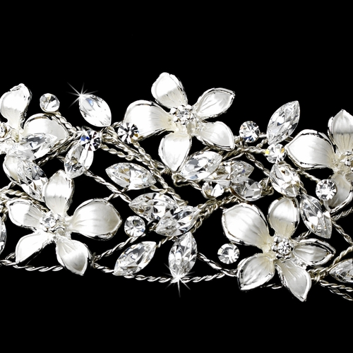Silver Tiara Headpiece 7329