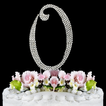 Completely Covered ~ Swarovski Crystal Wedding Cake Topper ~ Number 0 (Silver or Gold)