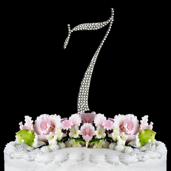 Completely Covered ~ Swarovski Crystal Wedding Cake Topper ~ Number 7