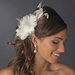 Ravishing Ivory Feather Bridal Hair Comb 8985