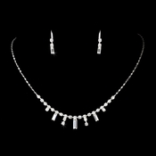 * Silver Clear Necklace Earring Set 332