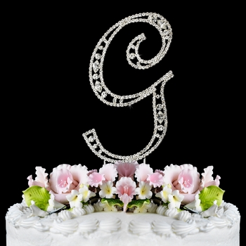 wedding cake topper letter g vintage swarovski wedding cake topper letter g 26348