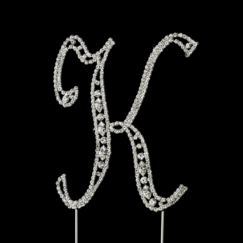 crystal letter wedding cake toppers vintage swarovski wedding cake topper letter k 13111
