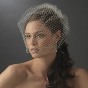 Plain Single Layered French Netting Birdcage Face Veil 900