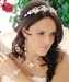 Silver Floral Keshi Headpiece HP 8137