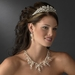 Charming Silver Clear Crystal & Freshwater Pearl Headpiece 9783