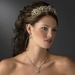 * Majestic Gold Clear Crystal Tiara Headpiece 9829
