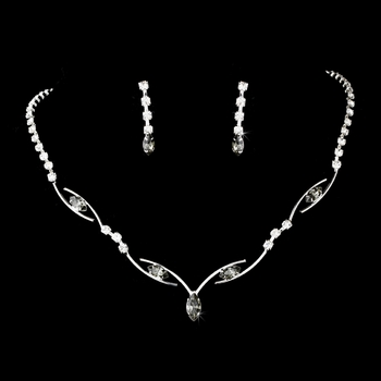Silver Gray & Platinum Accented Bridal Jewelry