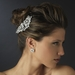 Silver Clear Rhinestone Bridal Earrings 25201