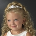 Children's White/Ivory Flower Headpiece HP C 601