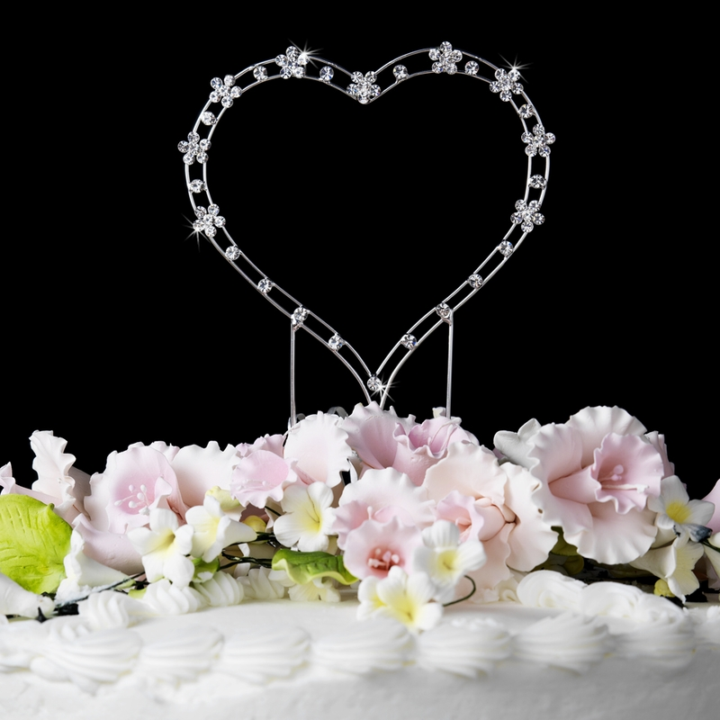Wholesale Crystal Accented Heart For Wedding Or