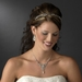 Chic Antique Silver Clear Crystal Headpiece 9827