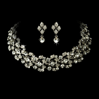 Elegant Vintage Crystal Jewelry Set NE 1022 *Discontinued*