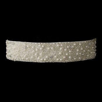 Pearl & Glass Bead Sash Belt 302