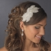 * Silver Ivory White AB Headband Headpiece 4025***Discontinued***