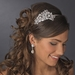 Antique Silver Crystal Side Accented Headpiece HP 395