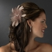 Cafe Brown Feather Fascinator Clip or Clip Brooch 442 ( Many Colors )