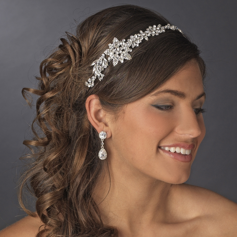 Vintage Bridal Headpiece with Side Accent HP 17966 Antique