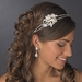 Rhinestone & Pearl Side Accented Double Row Bridal Headband HP 754