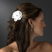 * Bridal Jeweled Dahlia Flower Hair Clip 431 with Brooch Pin