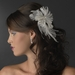 * Beautiful Feather Fascinator Bridal Flower Comb or Clip 441 White or Ivory
